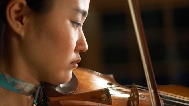 Sayaka Shoji, performing the Spring Concerto in Tokyo