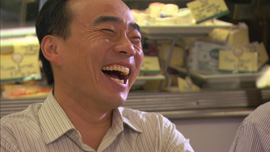 Cho-Liang Lin enjoys a joke with his musician friends on Manhattan's Upper West Side.