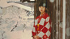 Megumi Yokota in her mothers kimono outside her home in Niigata, Japan. 