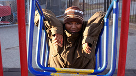 Abdul Abdoul at the playground