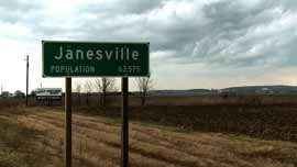 About 1/6 of Janesville's population lost their jobs.