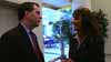 Gov. Scott Walker talks with billionaire Diane Hendricks, his largest campaign donor.