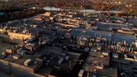 Aerial shot of the now closed Janesville GM Assembly plant