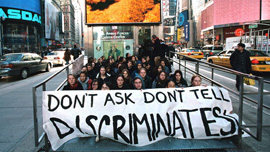 Soulforce's Right to Serve protest in New York City