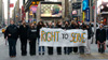 Vassar students protest the Don't Ask Don't Tell policy outside the U.S. Armed Forces recruiting center in Times Square.