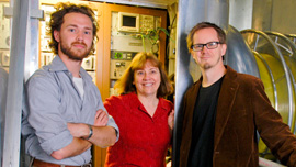 Producer Andrew Suprenant, Director Monica Ross, and Director Clayton Brown