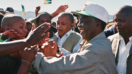 Thabo Mbeki campaigning 