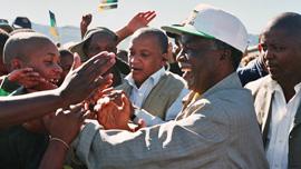 Thabo Mbeki campaigning