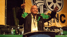 Jacob Zuma at the National Conference at Polokwane
