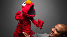 Elmo and Kevin Clash in  Being Elmo