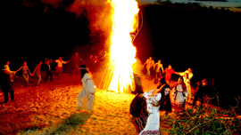 The bonfire at Kupala Night.