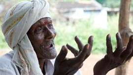 Village elder Keshav explains why they survived more easily before GMO seeds.
