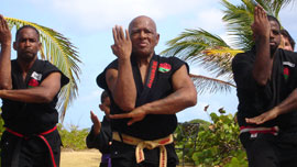 Ron Van Clief teaching in St. Thomas, U.S. Virgin Islands