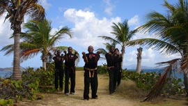 Ron Van Clief and students in St. Thomas, U.S. Virgin Islands