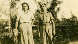 Hannah Senesh and soldier, Palestine 1943