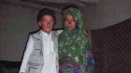 Mir with his mother, 2007