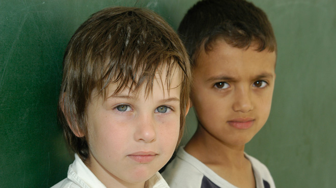 Two students of the Wadi Ara school