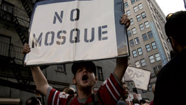 Protesters against the Ground Zero Mosque in New York, September