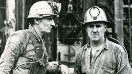 Two Butte, Montana, miners from the 1940s