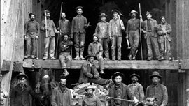 Butte miners at Speculator Mine, circa 1900