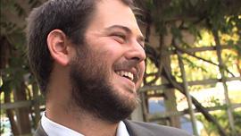 Rabbi Yerachmiel Shapiro, about to perform his first wedding
