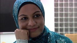 Tahera Ahmad studied to be a Muslim chaplain at Hartford Seminary, and now serves at Northwestern University.