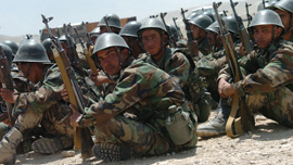 The Afghan National Army Training near Kabul, 2006