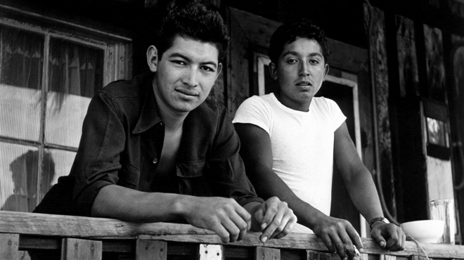 Gilbert Hernandez (left) with his brother in law Black Santos