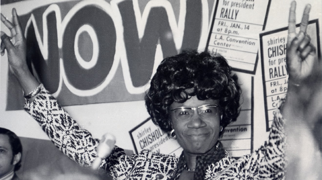 Shirley Chisholm on the campaign trail