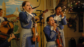 Mariachi Reyna de Los Angeles performing at Ciellito Lindo in El Monte, California