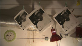 3 photos of Duch hanging to dry