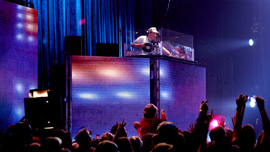 Mix Master Mike (Beastie Boys, Invisibl Skratch Piklz) at a performance in Atlanta, Ga