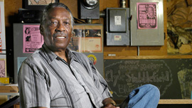 Clyde Stubblefield, perhaps the world's most sampled drummer