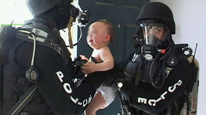 Baby rescued from a meth lab