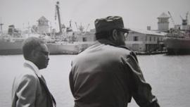 Fidel Castro with Angolan President Agostinho Neto in Havana
