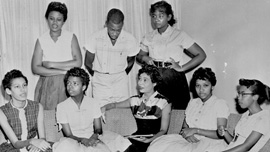 Daisy Bates with the Little Rock Nine