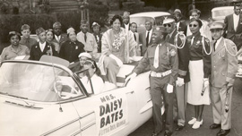 Daisy Bates in a parade