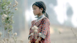 Child from a highly trafficked area of Nepal
