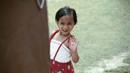 Tulsa, an HIV positive child living at the Maiti Nepal Hospice