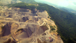 An image of a mountaintop removal mine in Deep Down