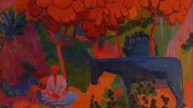 Crimson Autumn by Ural Tansykbaev, courtesy of Savitsky Collection