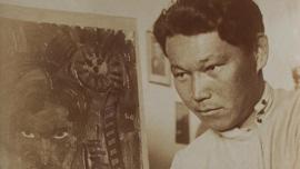 Artist Ural Transkbaev, unkown photographer