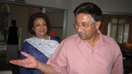 President Musharraf with his wife