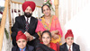 Rana Singh Sodhi with his wife and children