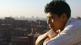 Nabil, 18 years old, one of the teenage boys featured in Garbage Dreams