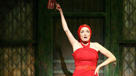 """Christine Ebersole as Edith Bouvier Beale (""""Little Edie"""") in Grey Gardens the Musical on Broadway"""