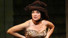 """Christine Ebersole as """"Little Edie"""" in Grey Gardens the Musical on Broadway"""