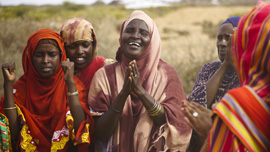 Women celebrate in Somaliland
