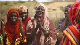 Women celebrate in Somaliland