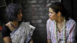 New Light founder and director Urmi Basu with America Ferrera in Khaligat, India